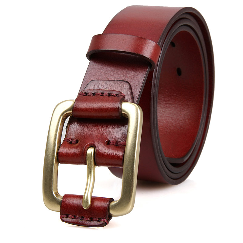 Durable Vegetable Leather Fashion Handmade Mens Belt