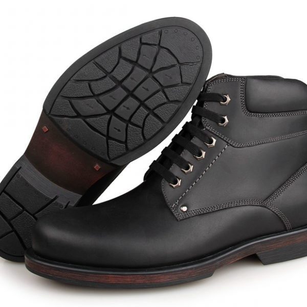 Leather Men Army Boots