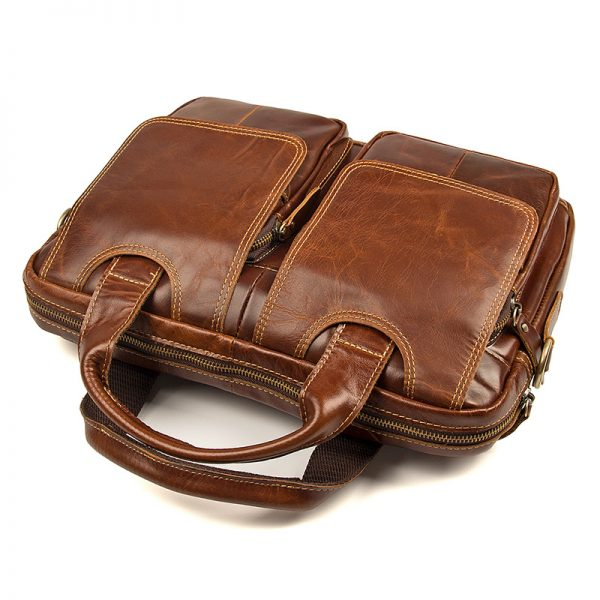 Vintage Cowhide Brown Briefcase